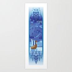 A Viking History Art Print