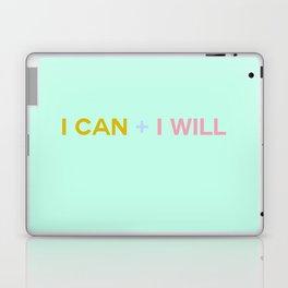 I CAN + I WILL seafoam Laptop & iPad Skin