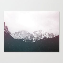 Snow on the Mountains Canvas Print