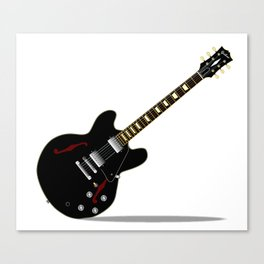 Black Semi Solid Guitar Canvas Print