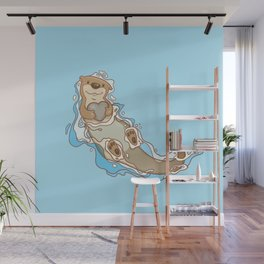 Will you be my otter half? Wall Mural