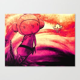 Space Boy Paper Diorama Canvas Print