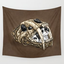 Saber Tooth Skull Wall Tapestry