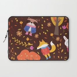 Autumn Animals Pattern Laptop Sleeve
