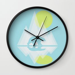 Polar Bear Abstract icecap Landscape Surrealism Art Wall Clock