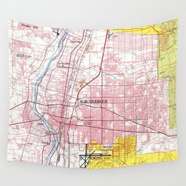 Albuquerque New Mexico Map (1978) Wall Tapestry