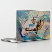 surfer Laptop & iPad Skins featuring Surfer by Michael Creese