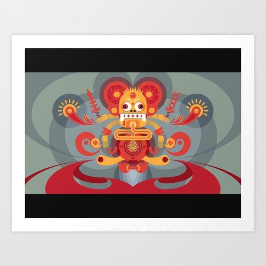 Koi Mouse Art Print