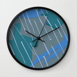 Camouflage City Rain Wall Clock