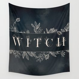 WITCH Mysterious Typography Design Wall Tapestry