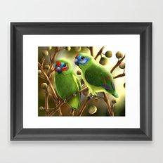 Double-eyed Fig Parrot Framed Art Print