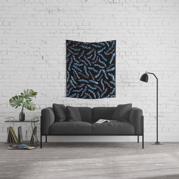 Branches At Night Wall Tapestry
