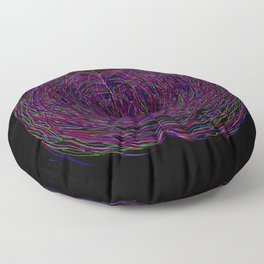confusion in color Floor Pillow
