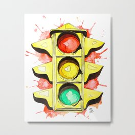 Stoplight Metal Print