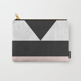 Modern marble geometry V Carry-All Pouch