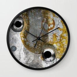 Grunge Metal Texture - Vintage Clock Battery Wall Clock