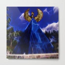 Blue Pyramid Power Metal Print