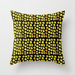 red and yellow polka dot- polka,polka dot,dot,pattern,circle,disc, point,abstract, minimalism Throw Pillow