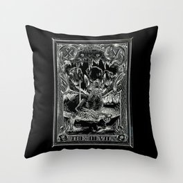 THE DEVIL of Tarot Cats Throw Pillow