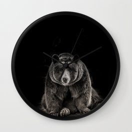 hello bear Wall Clock