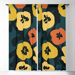 Midnight Flowers Blackout Curtain