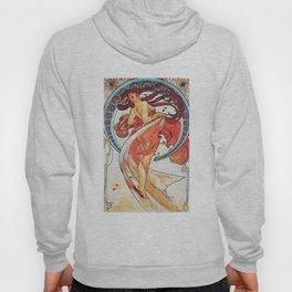 Alphonse Mucha Dance Art Nouveau Watercolor Painting Hoody