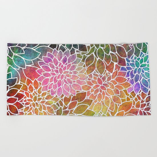 Floral Abstract 6 Beach Towel