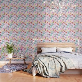 cornelia. watercolor florals. Wallpaper