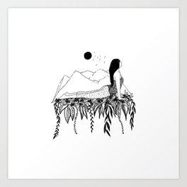 Inktober Stretch Art Print