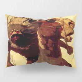 "N C Wyeth Vintage Western Painting ""Indian Lance"" Pillow Sham"