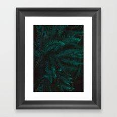 Blue Fern Twilight Framed Art Print