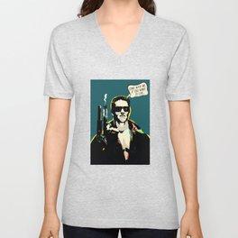 The Terminator Pop art film quote Unisex V-Neck