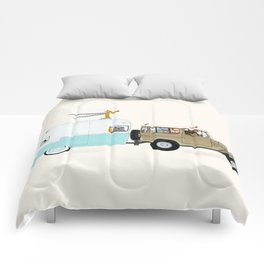 camping trip Comforters