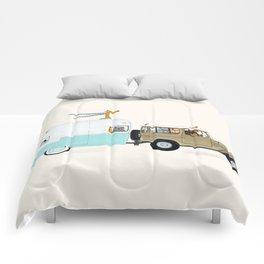 camping trip Comforters