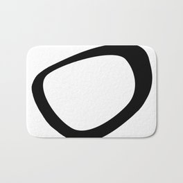 Black & White Abstract Circle Bath Mat