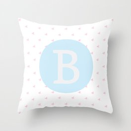 B is for Belinda Throw Pillow