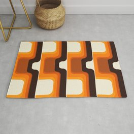 Mid-Century Modern Meets 1970s Orange Rug