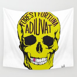 Fortune Favours The Brave. Wall Tapestry