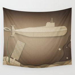 Submarine under Water Wall Tapestry