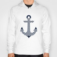 anchor Hoodies featuring Anchor by Paula Belle Flores