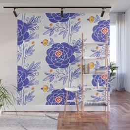 Zinnia Party Wall Mural