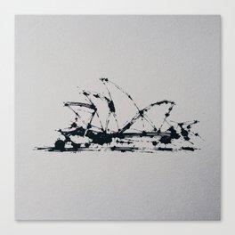 Splaaash Series - Sydney Ink Canvas Print