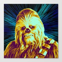 chewbacca Canvas Prints featuring Chewbacca by victorygarlic