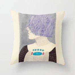 Wet Hair Throw Pillow