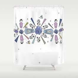 geometric flower crown Shower Curtain