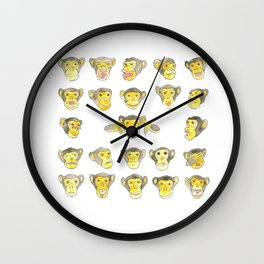 10 000 monkeys Wall Clock