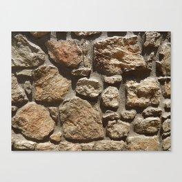Texture natural stone masonry and paving Canvas Print