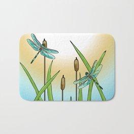 Dragonflies Fly Bath Mat