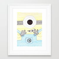 minion Framed Art Prints featuring minion by di yirou