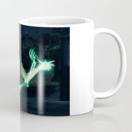 Sorceress casting spells on skeleton. Coffee Mug
